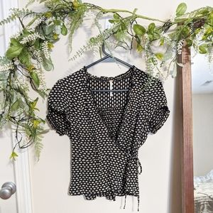 Free People Floral Daisy Wrap Top